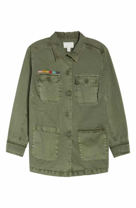 Caslon® Camo Utility Jacket (Plus Size) by CASLON