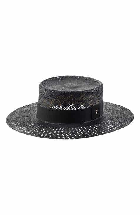 422475544e5 Helen Kaminski Panama Boater Hat.  320.00. Product Image. CHARCOAL  CONGO  YELLOW  NATURAL  BLACK