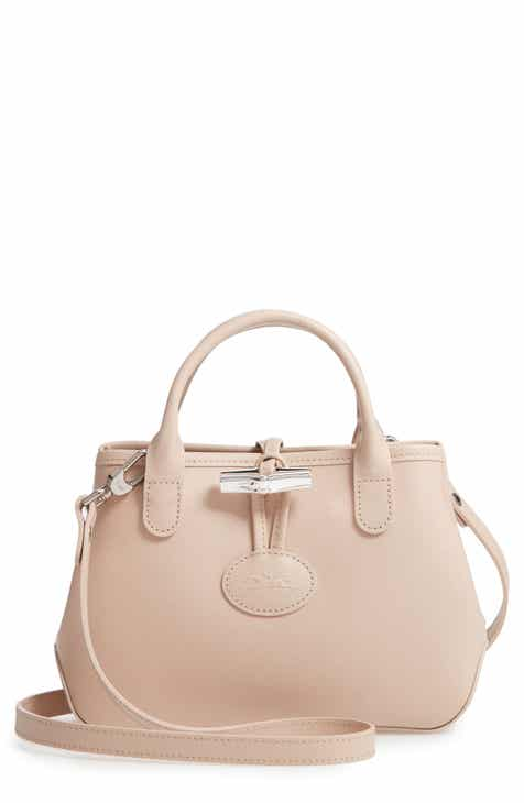 174fad035538 Longchamp Mini Roseau Leather Crossbody Bag