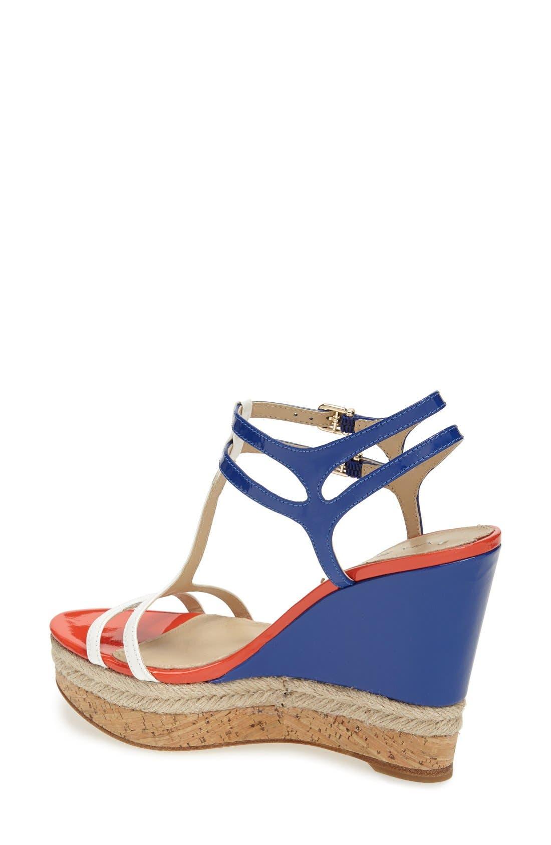 Alternate Image 2  - Via Spiga 'Meza' Leather Dual Ankle Strap Platform Wedge (Women) (Nordstrom Exclusive)