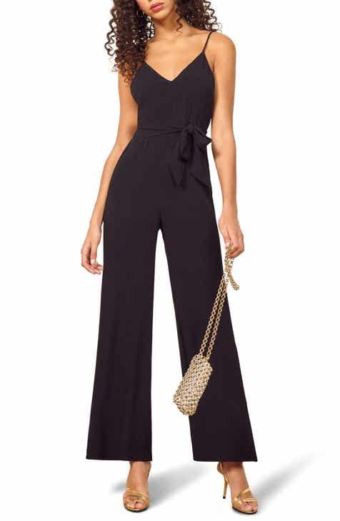 1.STATE Mix Stripe Tie Neck Jumpsuit by 1.STATE