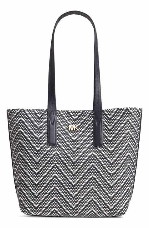 33225b36f340 MICHAEL Michael Kors Medium Junie Woven Leather Tote