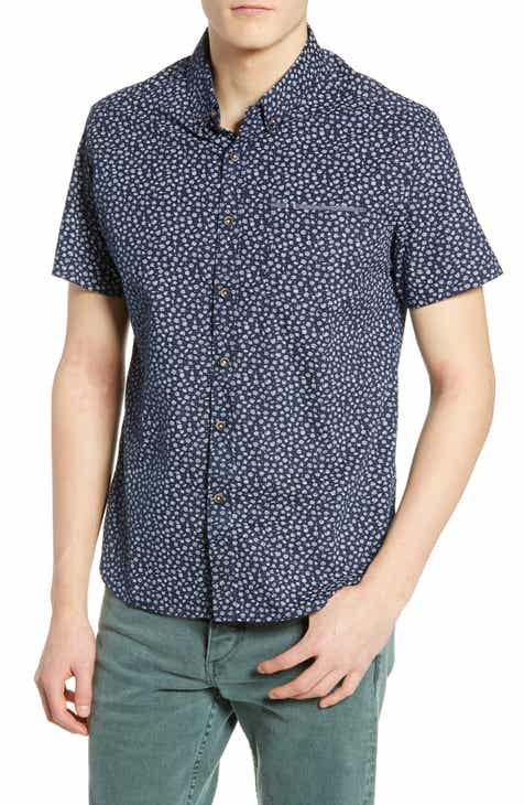 7 Diamonds Moon Stomp Trim Fit Sport Shirt