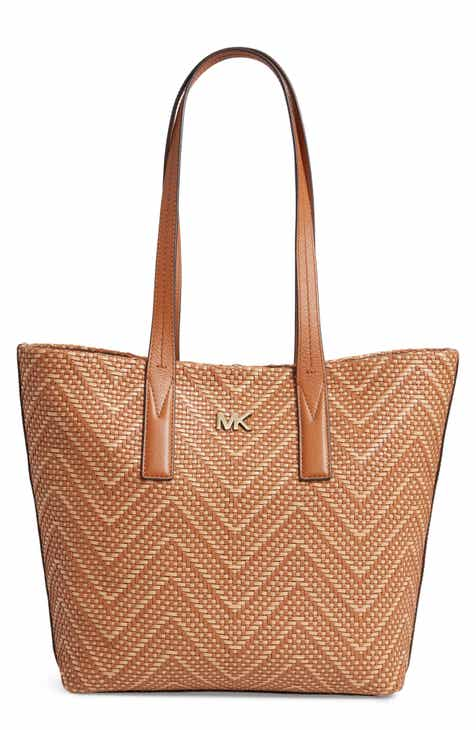 MICHAEL Michael Kors Medium Junie Woven Leather Tote 18f6cb6490