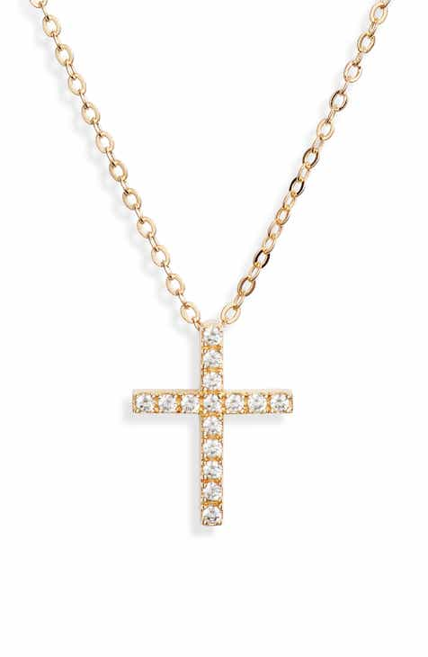 dbe91e010 Nordstrom Cubic Zirconia Cross Necklace