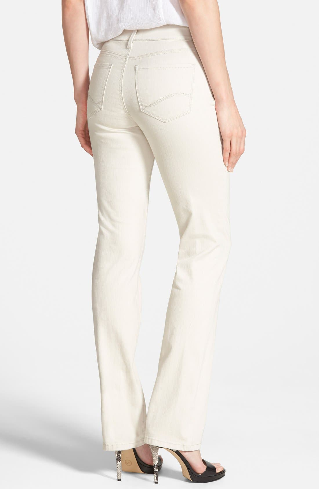 'Marilyn' Stretch Straight Leg Jeans,                             Alternate thumbnail 2, color,                             Clay