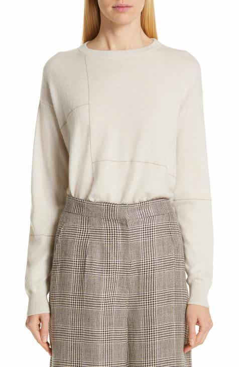 Brunello Cucinelli Monili Patchwork Cashmere Sweater by BRUNELLO CUCINELLI