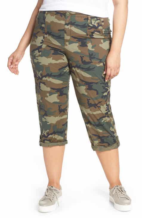 60946d4e784 Sanctuary Explorer Patch Pocket Crop Pants (Plus Size)