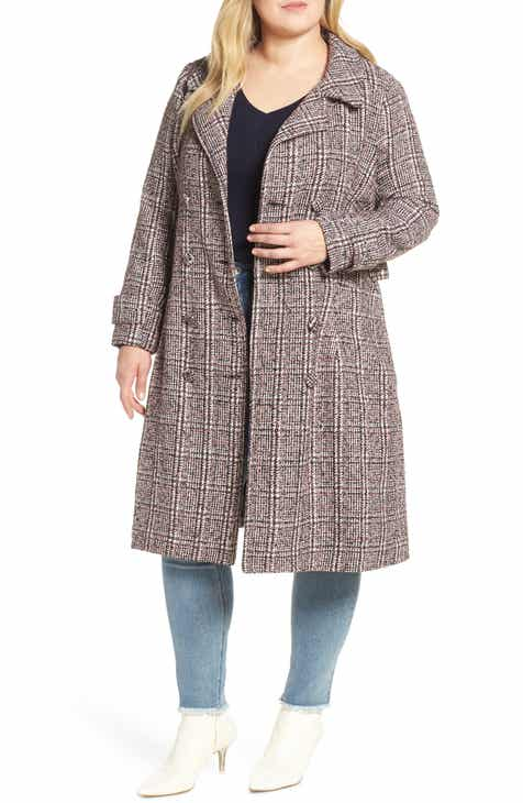 a0a95635b924 LOST INK Plaid Tweed Coat (Plus Size)