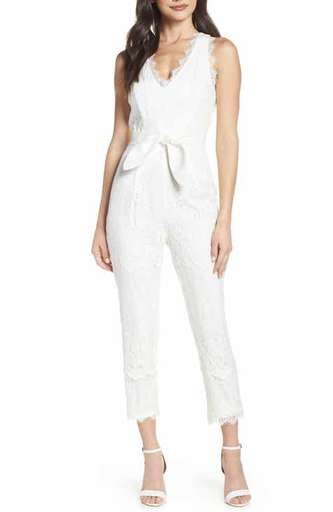 ff2462e1aaaa Harlyn Scallop Trim Lace Jumpsuit
