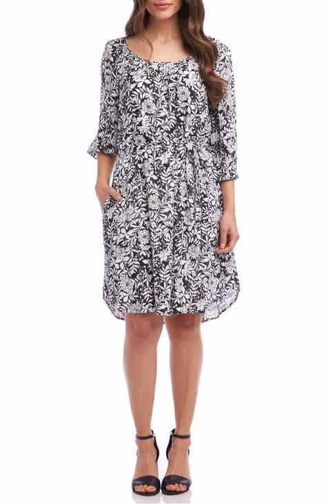 Karen Kane Belted A-Line Dress