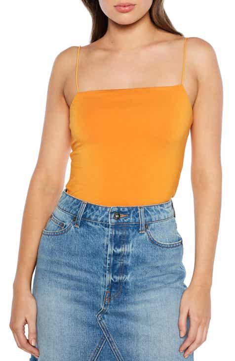 8f8b381c6b8d65 Bardot Sonia Spaghetti Strap Bodysuit