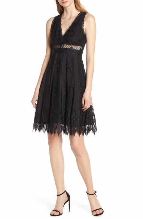 Foxiedox Sabella Lace Fit & Flare Dress