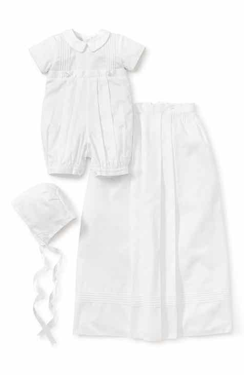 ba53f856 Kissy Kissy Graham Christening Romper, Detachable Skirt & Hat Set (Baby)