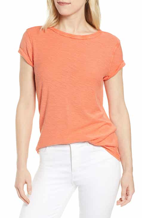 66f3298d6 Caslon® Textured Roll Sleeve Tee (Regular & Plus Size)