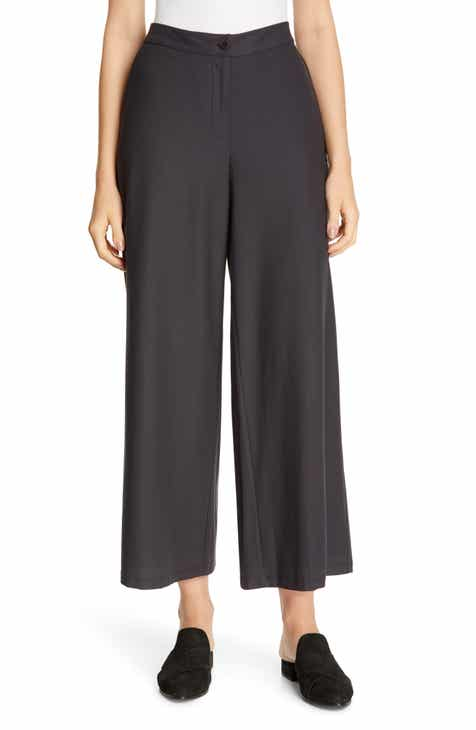 St. John Collection Seersucker Wool Gauze Pants by ST. JOHN COLLECTION