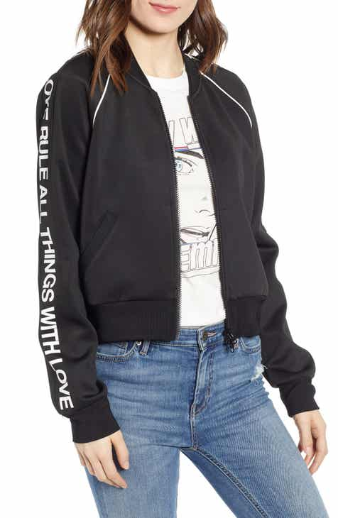 Pam & Gela Crop Logo Track Jacket by PAM AND GELA