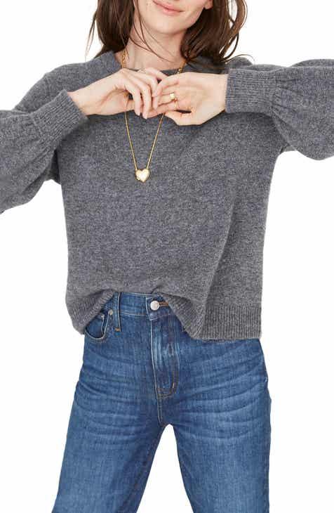 f56e74c4338 Madewell Balloon Sleeve Pullover Sweater