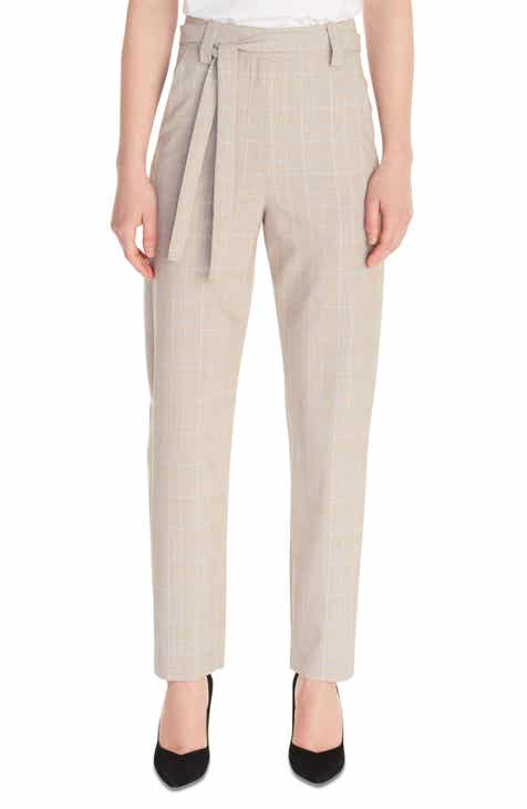maje Pitsy Glen Plaid Tie Waist Pants by MAJE