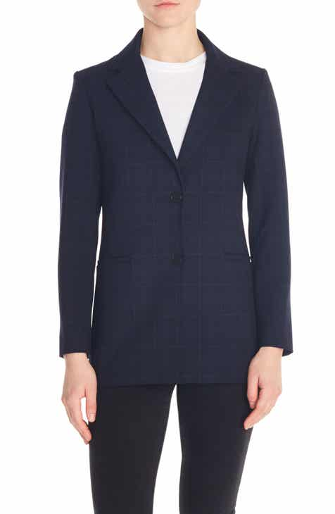 maje Valiro Windowpane Check Blazer by MAJE