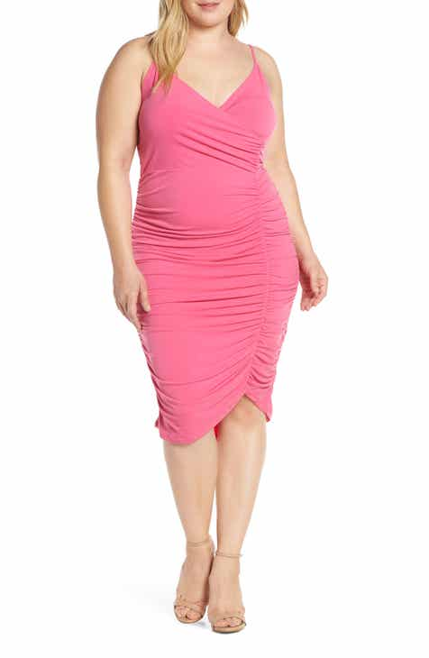 Leith Ruched Dress (Plus Size) by LEITH