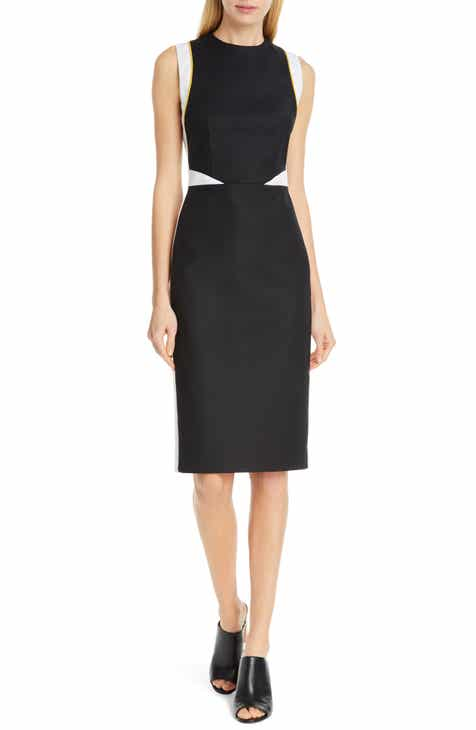 Judith & Charles Tilberg Colorblock Sheath Dress