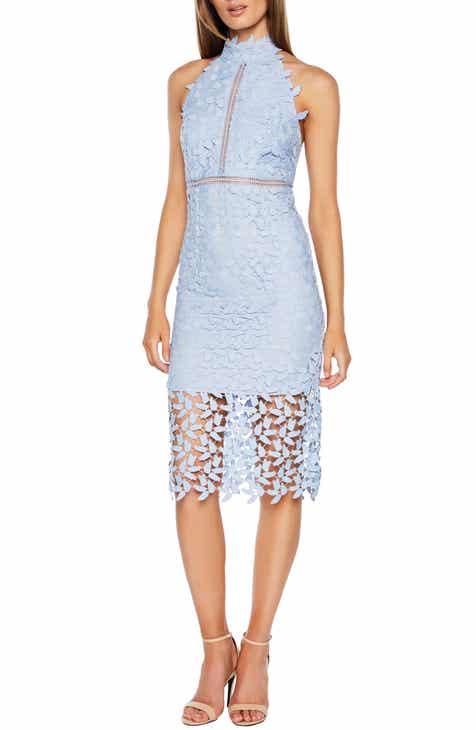 Bardot Gemma Halter Lace Sheath Dress b73791713