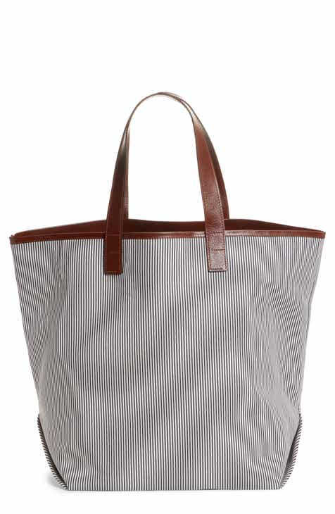 f5082e14e471 Lafayette 148 New York Travel Stripe Linen Tote