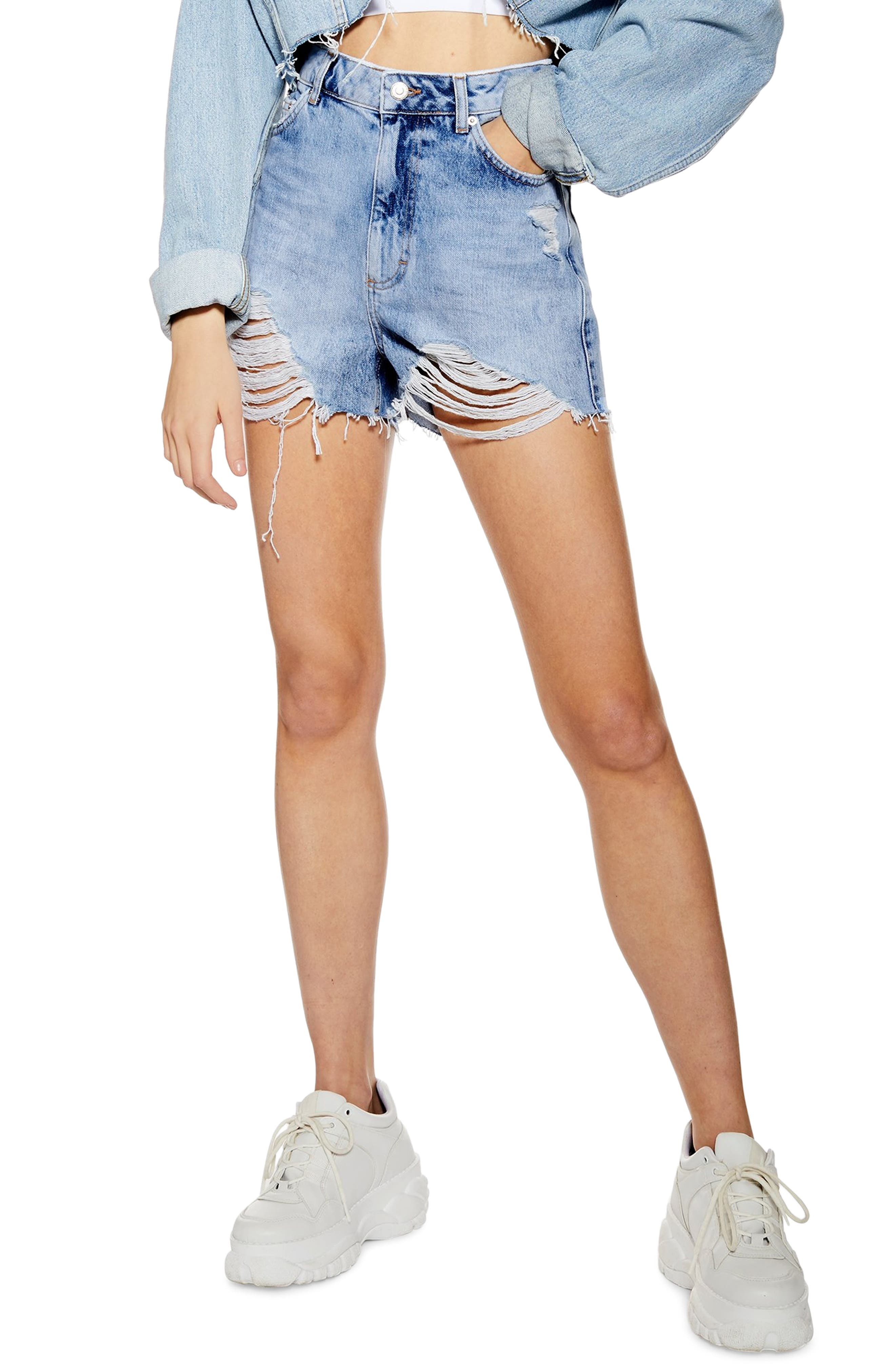 Discount Topshop Ripped Mom Shorts