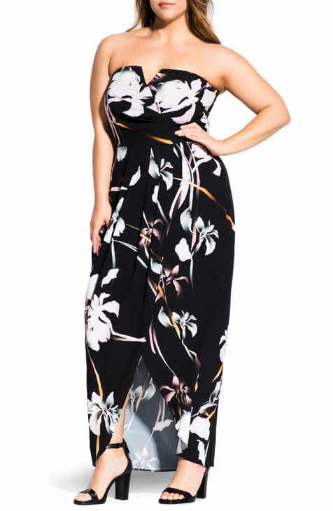 City Chic Orchid Dreams Maxi Dress (Plus Size)