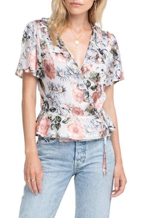 1a4b94561dd14a ASTR the Label Caleb Floral Print Top.  110.00. Product Image