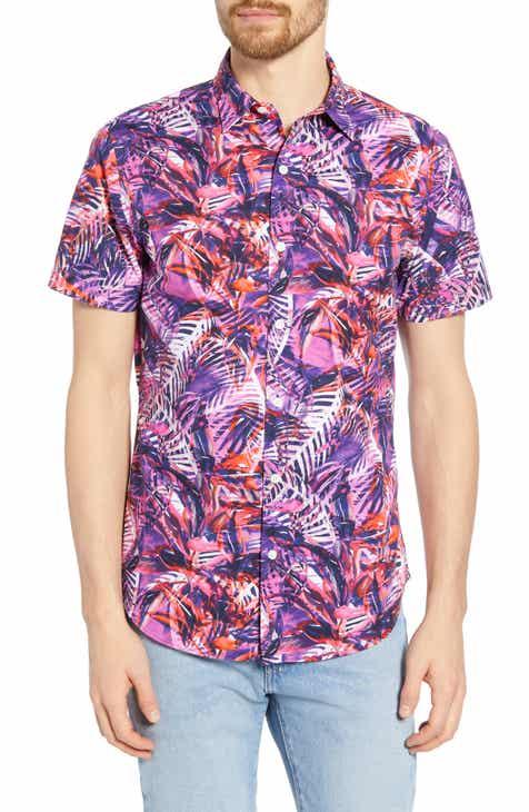 c7c02296dcb4 Bonobos Amalfi Premium Slim Fit Palm Print Cotton Sport Shirt