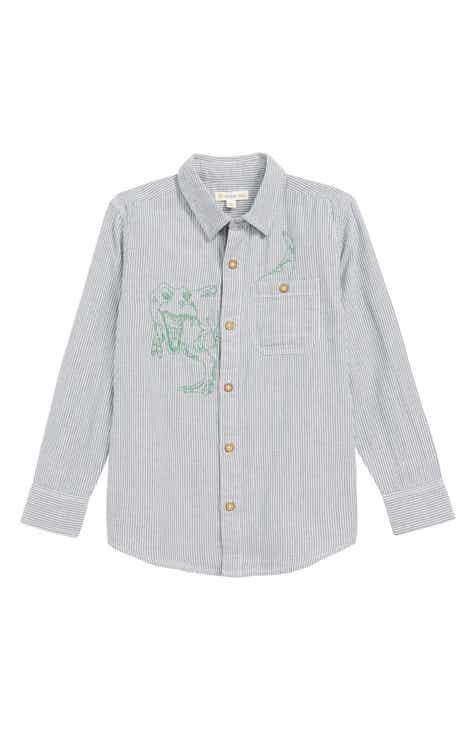 a4c051f582cc2 Tucker + Tate Do You Hear a Dinosaur Stripe Woven Shirt (Toddler Boys