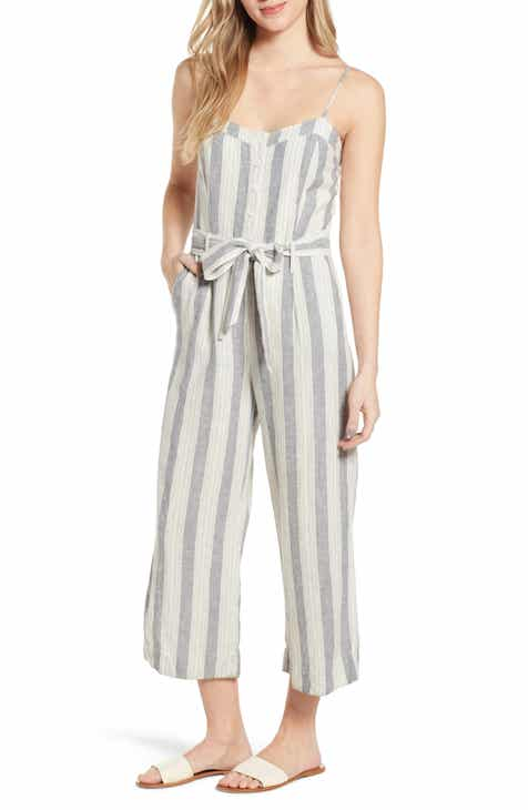 Lulus Count Me In Strapless Wide Leg Jumpsuit by LULUS