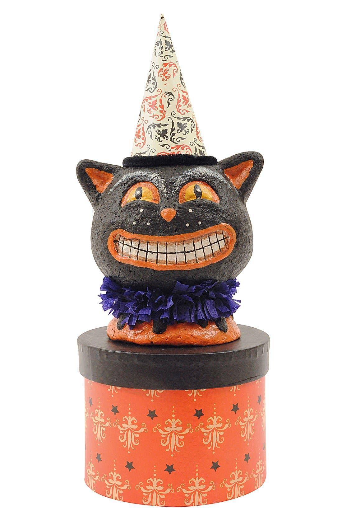 Main Image - Creative Co-Op Halloween Cat Decorative Box