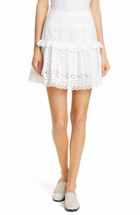 Rebecca Taylor Karina Cotton Eyelet Skirt by REBECCA TAYLOR