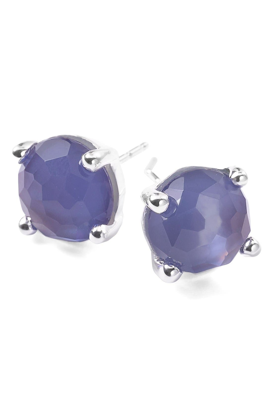 'Rock Candy' Mini Stud Earrings,                         Main,                         color, Silver/ Viola