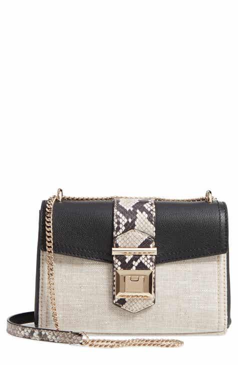 Jimmy Choo Marianne Leather   Genuine Snakeskin Crossbody Bag 9c2d95e144