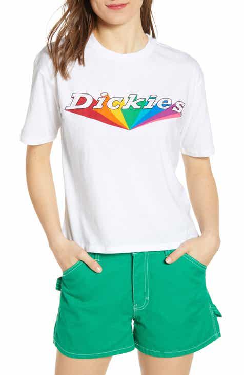 7cb46cdafd66f6 Dickies Rainbow Logo Tomboy Tee
