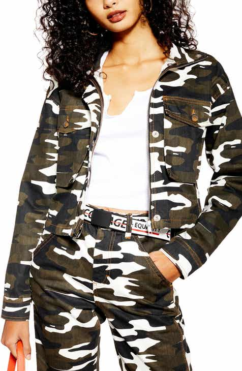 Topshop Camo Crop Jacket by TOPSHOP