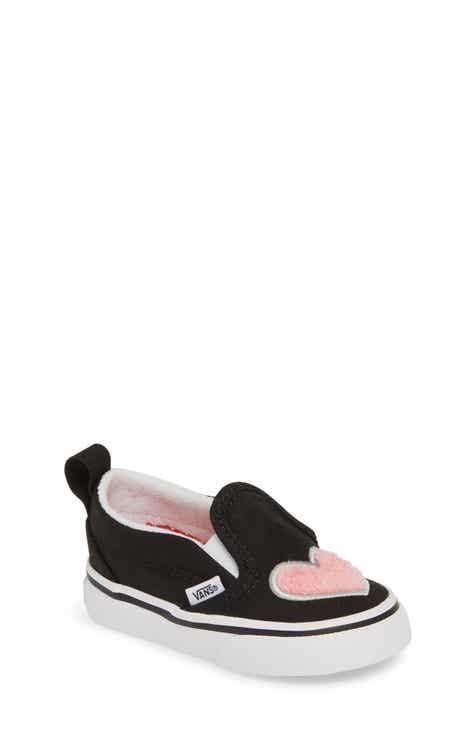 7df1a992a6 Vans Fuzzy Heart Slip-On Sneaker (Baby