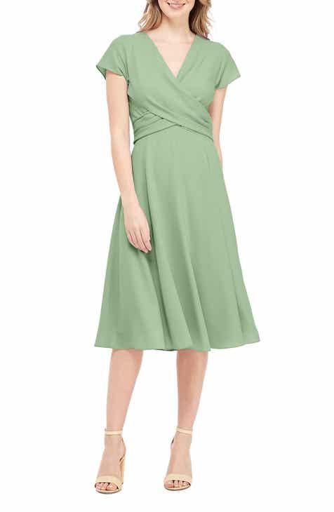 a656d6f1010 Gal Meets Glam Collection Crisscross Bodice Dress (Regular   Petite)