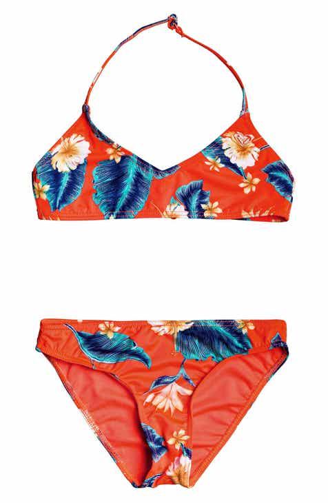 cb05e16af552 Roxy Seaside Lover Two-Piece Swimsuit (Big Girls)