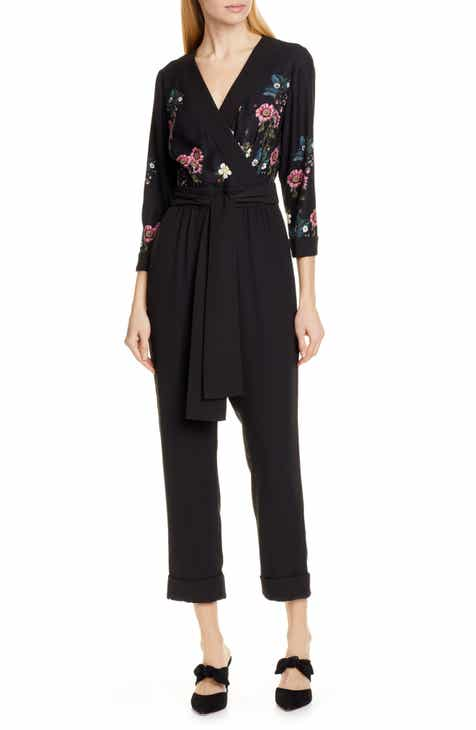 Ted Baker London Eleaann Oracle Floral Crop Jumpsuit by TED BAKER LONDON