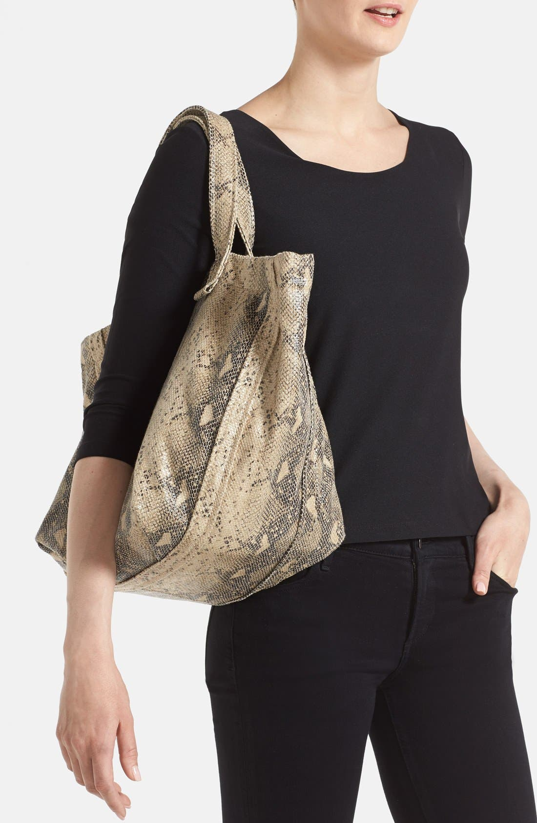 Alternate Image 2  - Street Level Python Print Tote