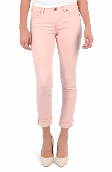 KUT From The Kloth Amy Crop Straight Leg Jeans (Rose) By KUT FROM THE KLOTH by KUT FROM THE KLOTH Top Reviews