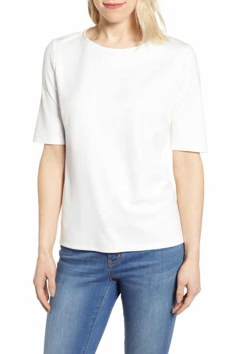 Gibson x International Women's Day Thamarr Keyhole Tie Back Ponte Top (Regular & Petite)