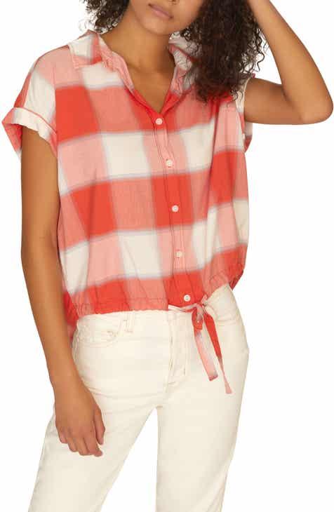 Sanctuary Miles Borrego Tie Front Shirt (Regular & Petite)