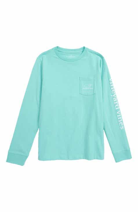 0d96a4017d80 vineyard vines Vintage Whale Graphic Long Sleeve T-Shirt (Big Boys)