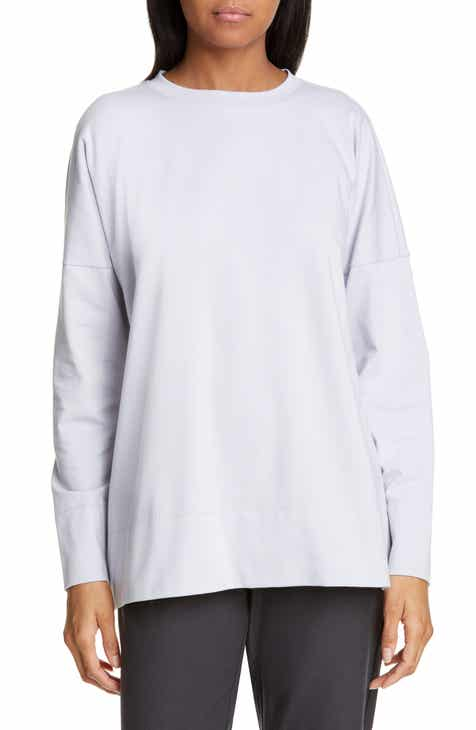 f960be959da31 Eileen Fisher Stretch Cotton Crewneck Top (Regular   Petite)